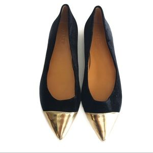 🆕 J. Crew Black and Gold Flats